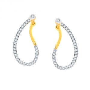 Fasense,Flora,Triveni,Pick Pocket,Avsar,Gili,Surat Tex Women's Clothing - Gili Yellow Gold Diamond Earrings PRA1E2138SI-JK18Y