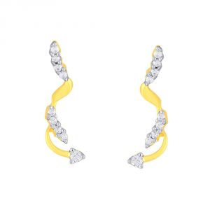 Asmi Yellow Gold Diamond Earrings Pra1e3169si-jk18y