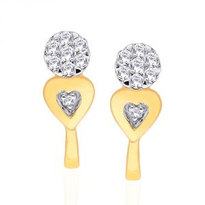 Asmi,Platinum,Ivy,Unimod,Hoop Women's Clothing - Asmi Yellow Gold Diamond Earrings PRA1E3305SI-JK18Y