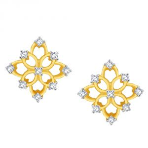 Vipul,Port,Fasense,Triveni,The Jewelbox,Gili,Mahi,Surat Diamonds Diamond Jewellery - Gili Yellow Gold Diamond Earrings PRA1E3451SI-JK18Y