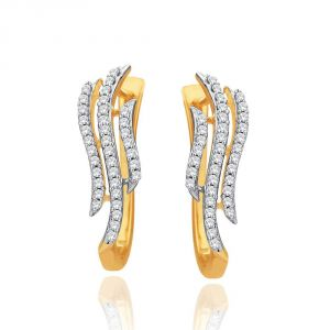 Kiara,Sukkhi,Ivy,Avsar,Sangini,The Jewelbox,Oviya Women's Clothing - Sangini Yellow Gold Diamond Earrings PRA1E3627SI-JK18Y