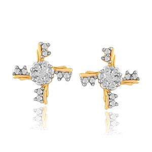 Vipul,Arpera,Clovia,Oviya,Sangini Women's Clothing - Sangini Yellow Gold Diamond Earrings PSE0137SI-JK18Y