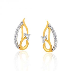 Asmi,Platinum,Ivy,Unimod Diamond Jewellery - Asmi Yellow Gold Diamond Earrings RDE00251SI-JK18Y