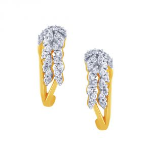 Asmi Yellow Gold Diamond Earrings Ue446si-jk18y