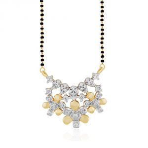 Asmi Yellow Gold Diamond Mangalsutra Aam249si-jk18y