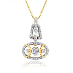 Nirvana Yellow Gold Diamond Pendant Aap422si-jk18y