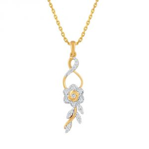 Asmi,Sukkhi,Triveni,Surat Tex,See More,Flora Women's Clothing - Asmi Yellow Gold Diamond Pendant AAP432SI-JK18Y