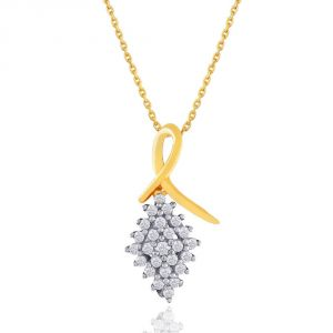 asmi,sukkhi,sangini,lime,sleeping story Diamond Pendants, Sets - Asmi Yellow Gold Diamond Pendant ADP00243SI-JK18Y