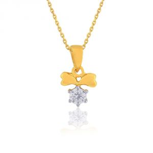 Diya,Karat Kraft Jewellery - Diya Yellow Gold Diamond Pendant AP772SI-JK18Y