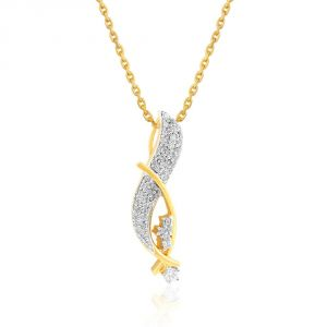 Asmi Yellow Gold Diamond Pendant Apsp0507si-jk18y