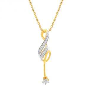 asmi,sukkhi,the jewelbox,parineeta,clovia,pick pocket Diamond Pendants, Sets - Asmi Yellow Gold Diamond Pendant APSP474SI-JK18Y