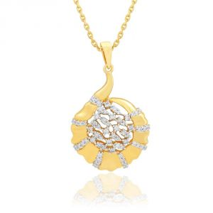 Kiara,Sukkhi,Avsar,Sangini,Parineeta,Lime,Kaara Women's Clothing - Sangini Yellow Gold Diamond Pendant BAP104SI-JK18Y