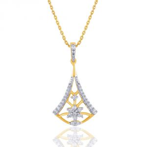 Nakshatra Yellow Gold Diamond Pendant Bap726si-jk18y