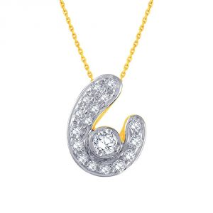 Vipul,Port,Tng,Sangini,Clovia Women's Clothing - Sangini Yellow Gold Diamond Pendant CP502SI-JK18Y