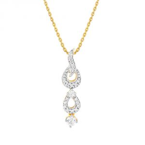 Ivy,Cloe,Jpearls,Asmi Women's Clothing - Asmi Yellow Gold Diamond Pendant CP598SI-JK18Y