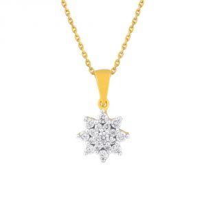 Nakshatra Yellow Gold Diamond Pendant Cp742si-jk18y