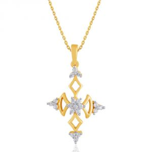 asmi,sukkhi,sangini,lime,sleeping story Diamond Pendants, Sets - Sangini Yellow Gold Diamond Pendant DDP02879SI-JK18Y