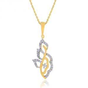 Asmi,Sukkhi,Triveni,Surat Tex Women's Clothing - Asmi Yellow Gold Diamond Pendant DP942SI-JK18Y