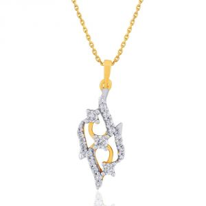 Asmi,Sparkles Women's Clothing - Asmi Yellow Gold Diamond Pendant DP959SI-JK18Y