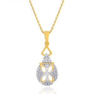 Sangini Yellow Gold Diamond Pendant Dp987si-jk18y