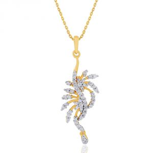 Sangini Yellow Gold Diamond Pendant Ep267si-jk18y