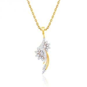 Jagdamba,Mahi,Flora,Sangini Women's Clothing - Sangini Yellow Gold Diamond Pendant EP617SI-JK18Y