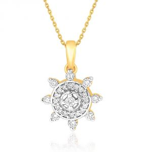 Arpera,Tng,Sangini Women's Clothing - Sangini Yellow Gold Diamond Pendant NPA051SI-JK18Y
