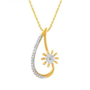Nirvana Yellow Gold Diamond Pendant Ip749si-jk18y