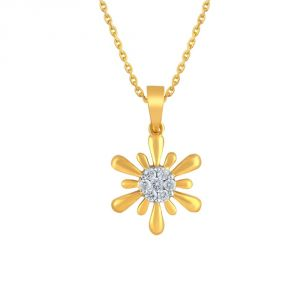Nirvana Yellow Gold Diamond Pendant Ip811si-jk18y