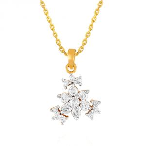 Vipul,Sangini Women's Clothing - Sangini Yellow Gold Diamond Pendant NPA192SI-JK18Y