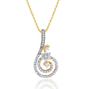 Nakshatra Yellow Gold Diamond Pendant Npa335si-jk18y