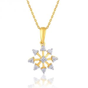 Sangini Diamond Pendants, Sets - Sangini Yellow Gold Diamond Pendant NPA493SI-JK18Y