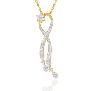 Maya Diamond Yellow Gold Diamond Pendant Npc306si-jk18y