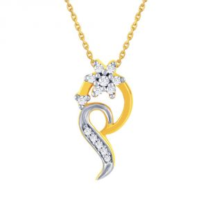 Maya Diamond Yellow Gold Diamond Pendant Npc373si-jk18y