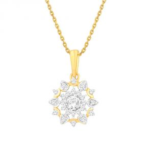 Sangini Yellow Gold Diamond Pendant Npc544si-jk18y