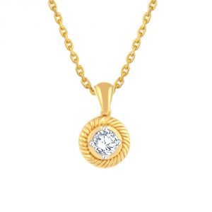 Me-solitaire Yellow Gold Diamond Pendant Pp10176si-jk18y