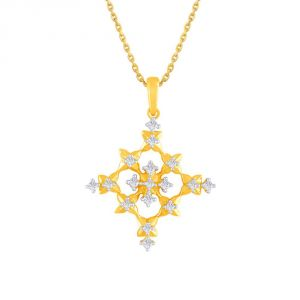 Sangini Yellow Gold Diamond Pendant Pp13094si-jk18y