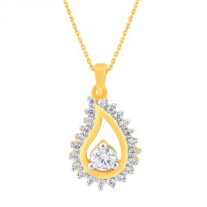 La Intimo,Shonaya,Sangini Women's Clothing - Sangini Yellow Gold Diamond Pendant SPC009SI-JK18Y