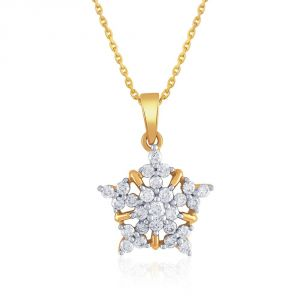 Kiara,Sukkhi,Ivy,Avsar,Sangini,The Jewelbox,Oviya Women's Clothing - Sangini Yellow Gold Diamond Pendant YDP00222SI-JK18Y