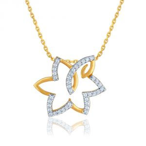 Vipul,Port,Tng,Sangini,Clovia Women's Clothing - Sangini Yellow Gold Diamond Pendant YDP00249SI-JK18Y