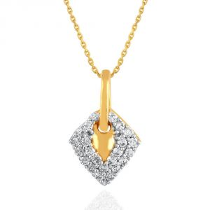 Hoop,Shonaya,Arpera,Tng,Sangini Women's Clothing - Sangini Yellow Gold Diamond Pendant YDP00389SI-JK18Y