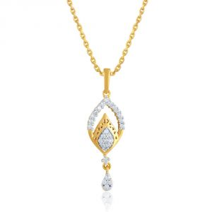 Rcpc,Kalazone,Sangini Women's Clothing - Sangini Yellow Gold Diamond Pendant YDP00398SI-JK18Y