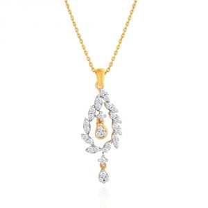 Sangini Diamond Pendants, Sets - Sangini Yellow Gold Diamond Pendant YDP00441SI-JK18Y