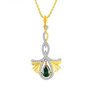 Triveni,Pick Pocket,Parineeta,Arpera,Sleeping Story Women's Clothing - Parineeta Yellow Gold Diamond Pendant BAP140SI-JK18Y