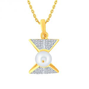 Asmi Jewellery - Asmi Yellow Gold Diamond Pendant BAP275SI-JK18Y