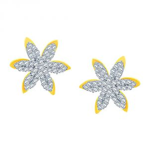 Sangini Yellow Gold Diamond Earrings De098si-jk18y
