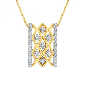 Sukkhi,Sangini,Lime Women's Clothing - Sangini Yellow Gold Diamond Pendant EP063SI-JK18Y