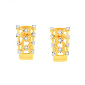 La Intimo,Shonaya,Sangini,Unimod,Lime,Bikaw,Sukkhi Women's Clothing - Sangini Yellow Gold Diamond Earrings PE12756SI-JK18Y