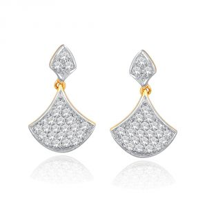 Kiara,Sukkhi,Ivy,Avsar,Sangini,The Jewelbox Women's Clothing - Sangini Yellow Gold Diamond Earrings DDE02025SI-JK18Y