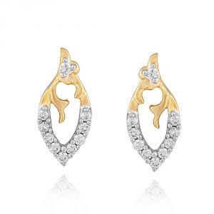 Hoop,Asmi,Kalazone,Tng,Lime,Ag,The Jewelbox Women's Clothing - Asmi Yellow Gold Diamond Earrings IDE00419SI-JK18Y